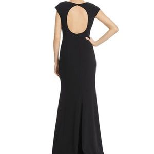Eliza J Black Cap Sleeved Gown